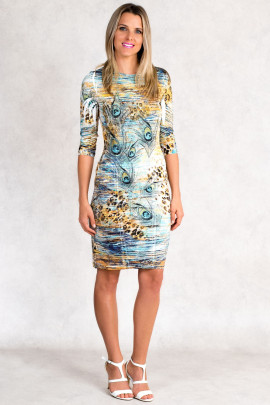 Siren Allure Print Dress Rhinestone Embellished