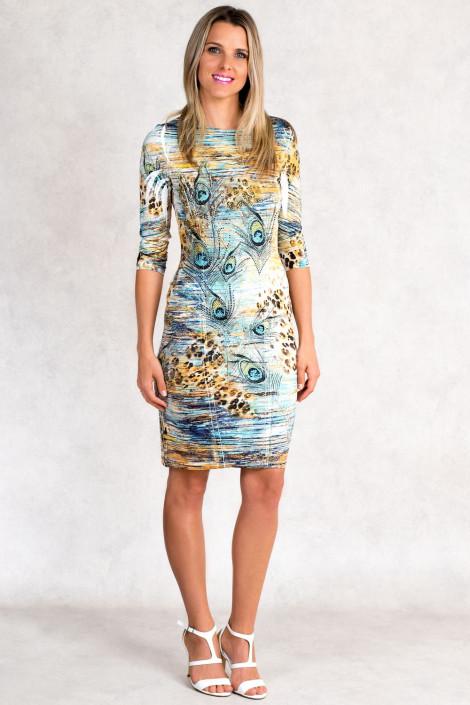 Siren Allure Print Dress Rhinestone Embellished