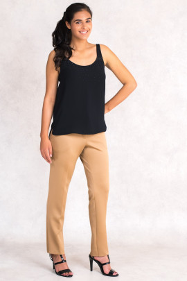 Wardrobe Essential Classic Pants in Brown