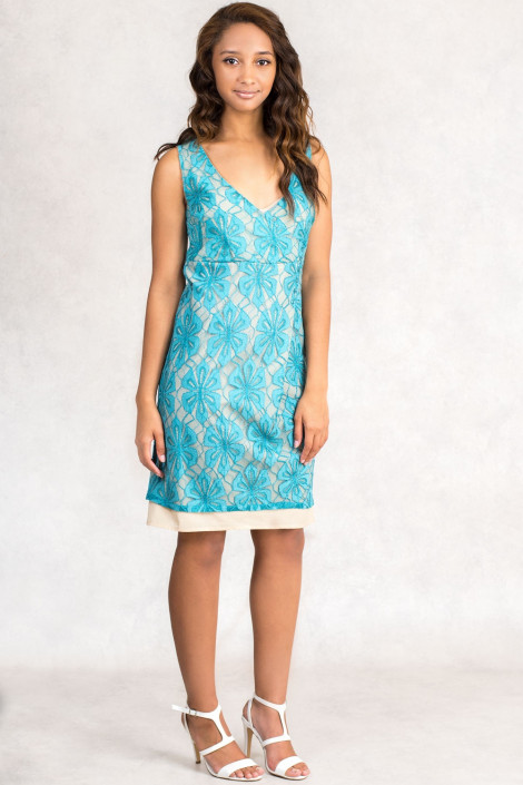 Light Sea Green Lace Dress by Siste's