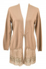 It's All for You Cotton Sequinned Cardigan in Brown