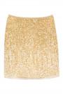 Sequin Shining Mini Skirt in Gold