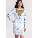 Gold Necklace Print Dress & Jumper Set S-TWELVE EXCLUSIVE