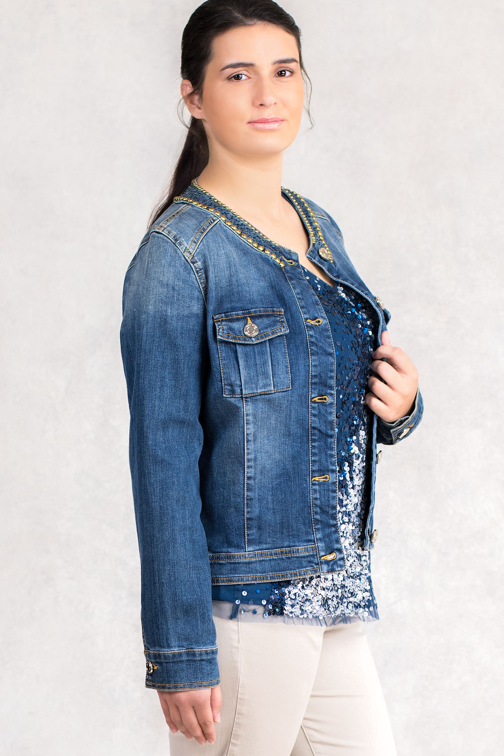 More By Siste S Casual Chic Designer Denim Jacket Claddio