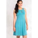Gorgeous Velvety Shine Turquoise Summer Dress SISTE'S ITALY