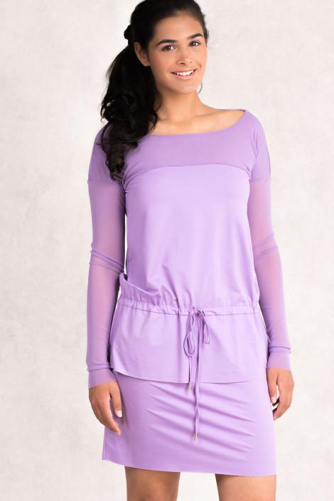Always Bright Short Summer Dress in Light Violet