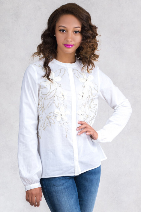 Roxolana Cotton Embroidered Shirt