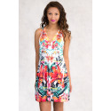 Asiatic Lily Printed Sundress with Lace Back