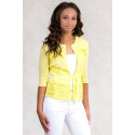 NO-NA Lovely Romantic Linen Jacket in Yellow