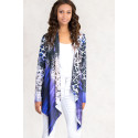 Purple Leopard Jersey Cardigan Shining Satin Front S-TWELVE EXCLUSIVE