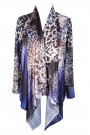 Purple Leopard Digital Print Cardigan