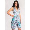 Fit & Flare Summer Print Dress MAYENTL PARIS