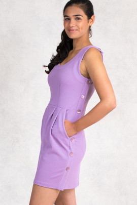 You're Just Pretty Petite Dress with Side Pockets in Purple