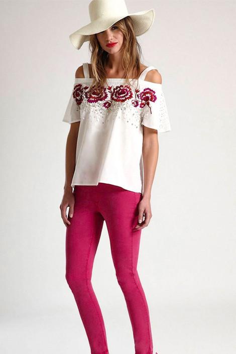 Designer's Embroidery Cotton Top