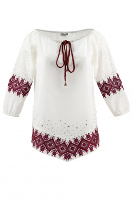Designer Embroidery Sequin Cotton Blouse