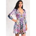 Simply Gorgeous Designer Print Dress Empire Waist MAYENTL PARIS