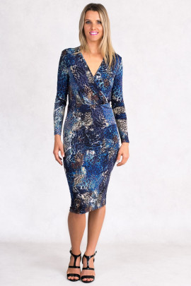 Shine With Confidence Long Elegat Print Dress