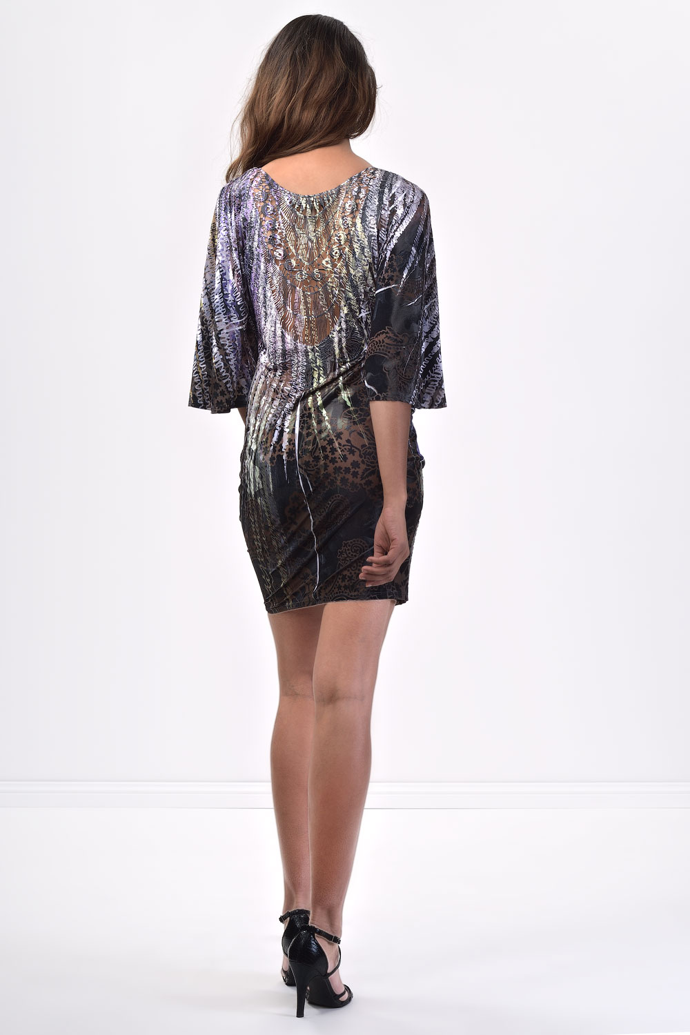 Simply Chic Bat Sleeve Dress With Lace Back