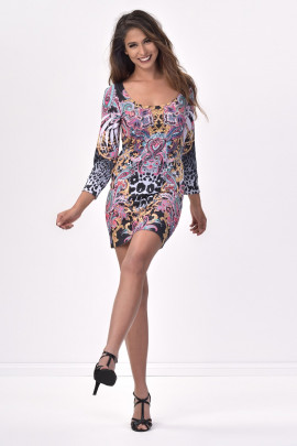 Simply Gorgeous Printed Mini Dress