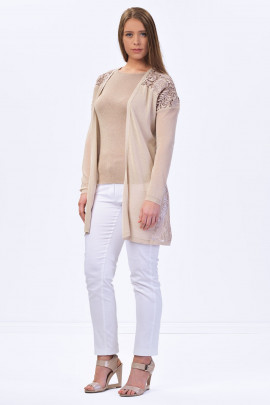 Everyday Elegance Lace Cardigan in Shining Beige