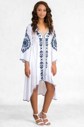 Love Summer Cotton Embroidered Tunic