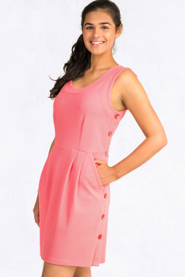 You're Just Pretty Petite Dress With Side Pockets In Pink