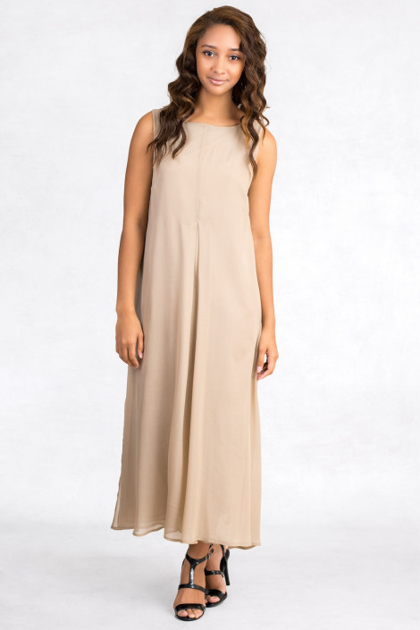 Flattering For Everyone Long Silk Dress