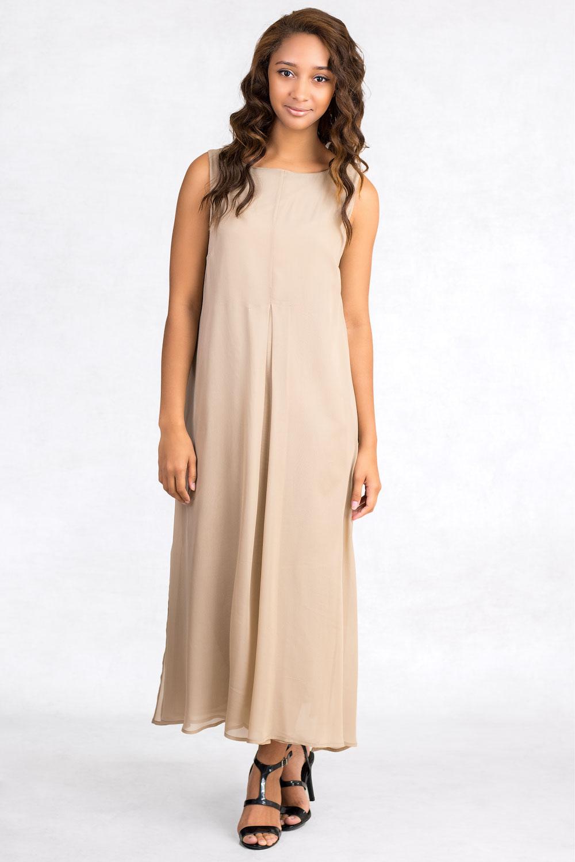 Siste S Flattering For Everyone Long Silk Dress Claddio