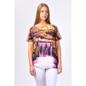 SISTE'S Glowing Waterfall T-Shirt with Silk Sleeves