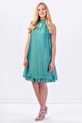 COCONUDA Bright & Weightless Silk Summer Dress in Green