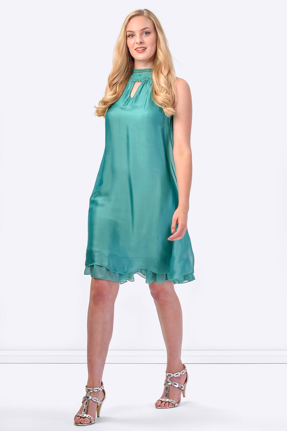 COCONUDA Bright & Weightless Silk Summer Dress in Green ...
