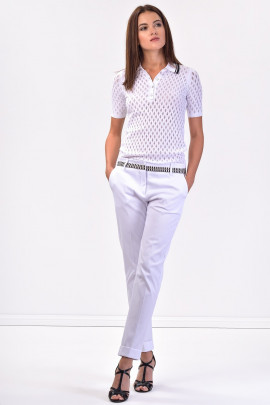 SISTE'S Refined Silhouette White Pants