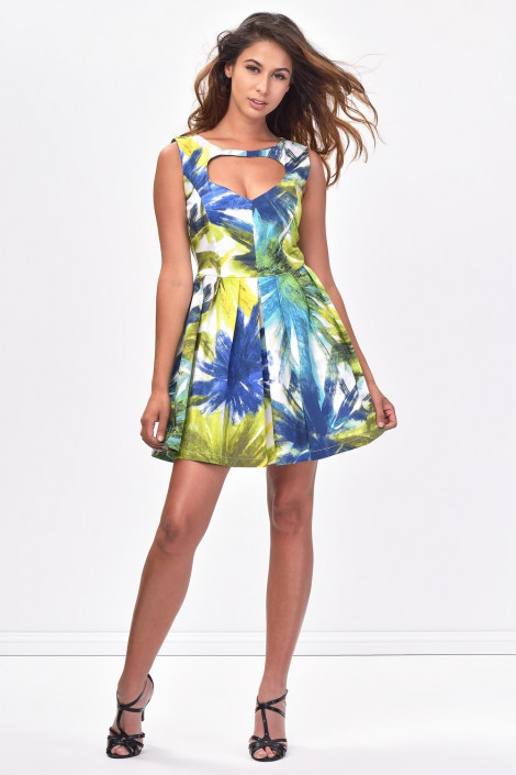 COCONUDA Heart Cut-out Cotton Dress
