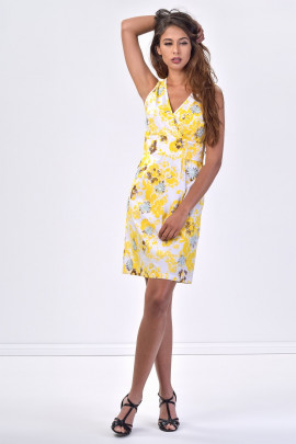 SISTE'S Summer Flowers Embroidered Cotton Dress