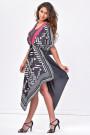 SISTE'S Handkerchief Hem Black Summer Dress