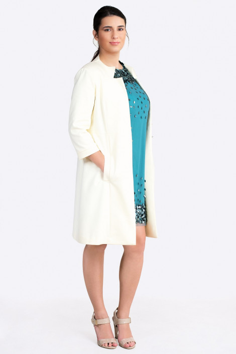 More by Siste's Gorgeous Long Jacket in Pearl White