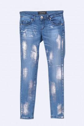 COCONUDA Haute & Slimming Silver Gloss Jeans