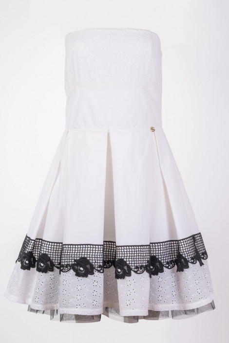 SISTE'S Naughty Girl White Cotton Summer Dress