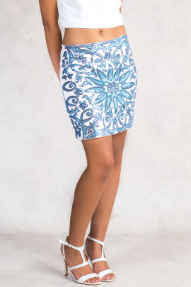 Cleopatra Mini Skirt With Blue Sequins