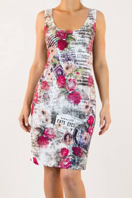 One Day in Paris Printed Bodycon Dress