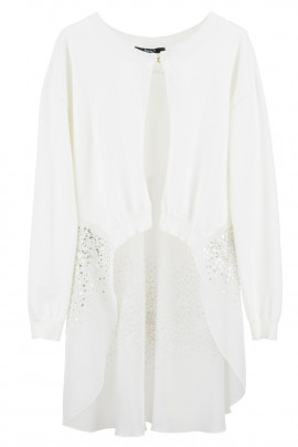 A Bit of Charming Glitter Sequined Cardigan in White