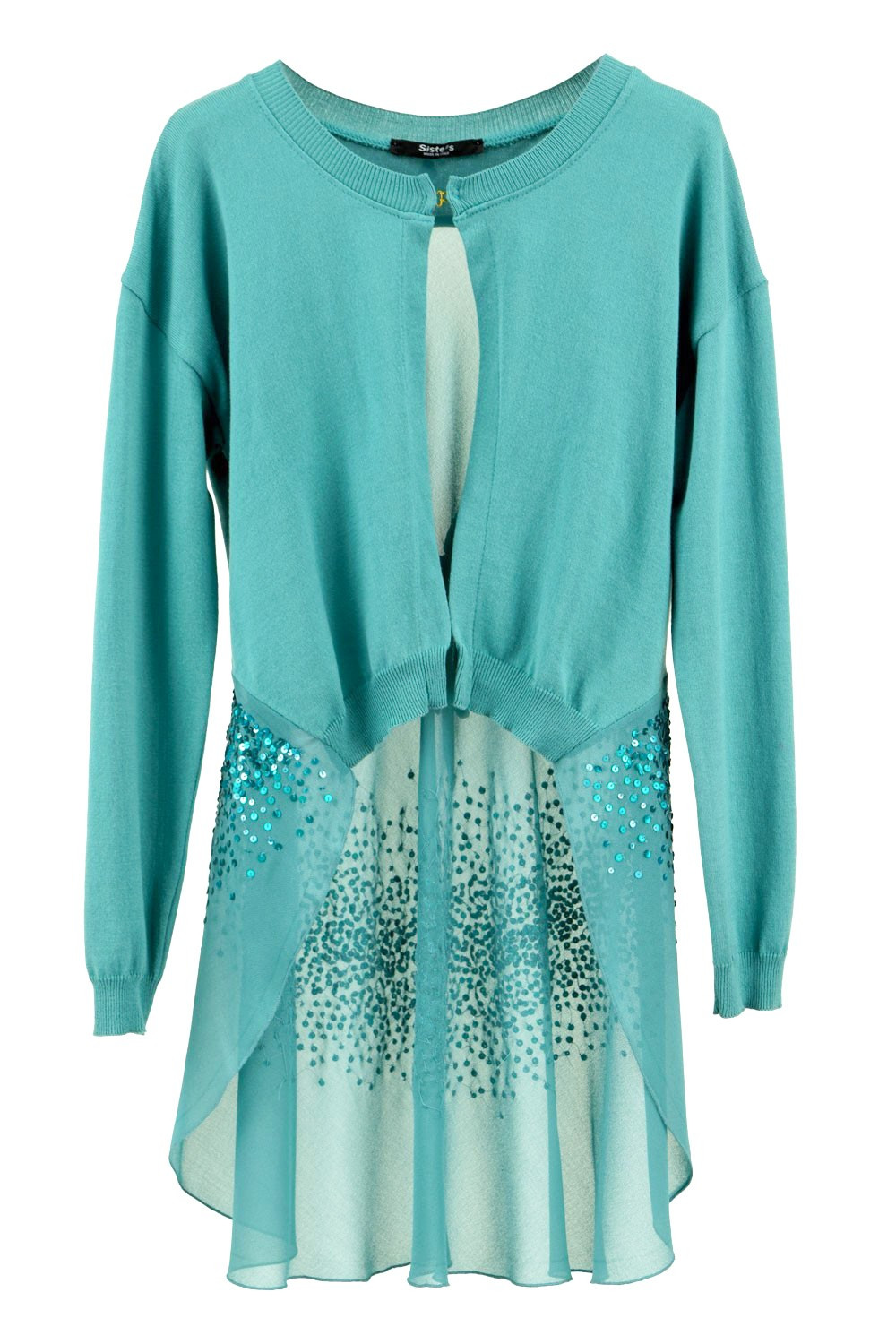 A Bit of Charming Glitter Sequin Cardigan in Green - CLADDIO