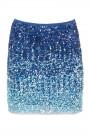 Sequin Shining Mini Skirt in Blue
